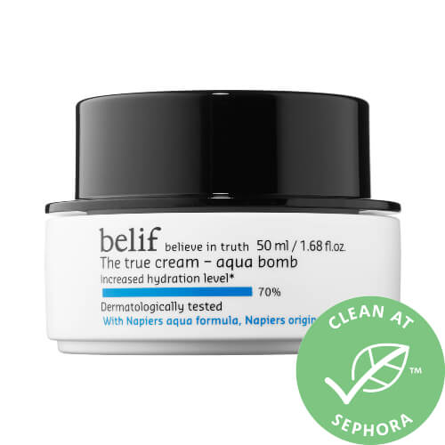 Belif - The True Cream Aqua Bomb contains raspberry extracts that possess antioxidant properties