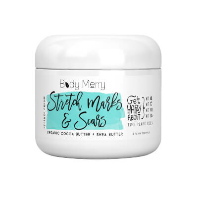 Body Merry Stretch Marks And Scars works to prevent and reduce the appearance of stretch marks and scars