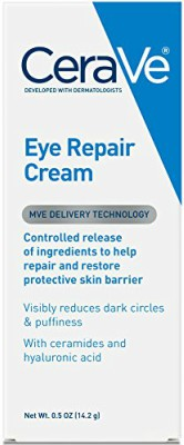 CeraVe Eye Repair Cream effectively reduces puffiness and dark circles under the eyes