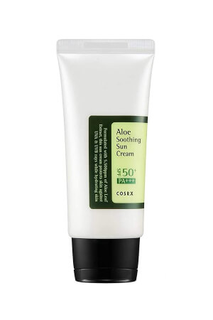 Corsx Aloe Soothing Sun Cream SPF50 PA+++ 50ml is a non-sticky and long-lasting sun cream
