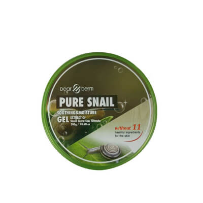 Dearderm Pure Snail Gel is highly effective for skin nourishment and refreshes the skin by decreasing wrinkles and dark circles