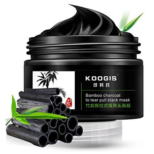 KOOGIS – Bamboo Charcoal Blackhead Removal Mask this mask needs to be applied on the areas with blackheads, especially the nose