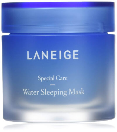 Laneige – Water Sleeping Mask is a light weight gel mask that restores the natural glow of the skin and gives it a shiny surface