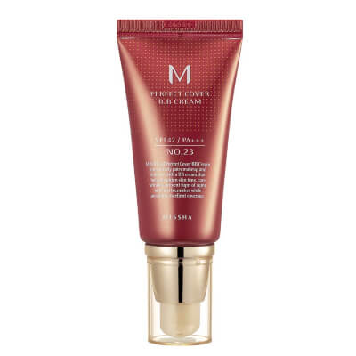 MISSHA – M Perfect Cover BB Cream No.23 Natural Beige SPF42 PA+++ is specialized for treatment of oily skin