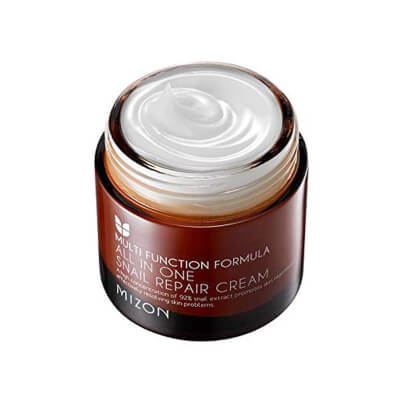 MIZON All In One Snail Repair Cream solves all your skin problems in one time application