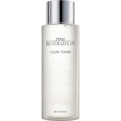 Missha Time Revolution Clear Toner restore your skin's pH balance