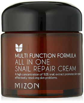 Mizon All in One Snail Repair Cream provide gentle soothing care to the delicate skin beneath the eyes.