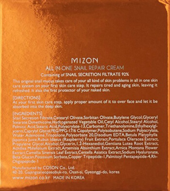 Mizon Eye Cream contains a variety of antioxidants and necessary proteins as well as elastin