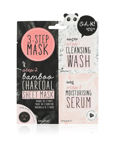 NPW USA – Oh K! Korean Multi-Step Face Charcoal Mask is used for deep cleansing and for the removal of impurities