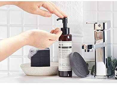Oil cleanser is used to properly remove any residue and shreds of makeup