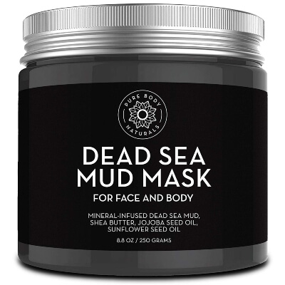 Pure Body Naturals – Dead Sea Mud Mask diminishes wrinkles and increases the skin radiance