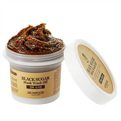 Skin Food – Black Sugar Mask removes blackheads and scrubs away the dead skin