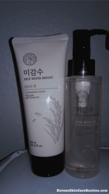 The Face Shop Rice Water Bright Light Cleansing Oil helps remove the makeup from my face while cleansing it at the same time