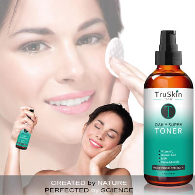 Toners hydrate the skin greatly and also reduce large open pores