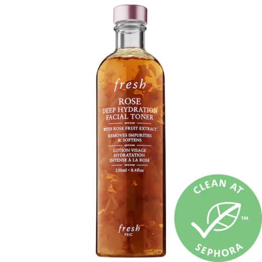 Fresh Rose & Hyaluronic Acid Deep Hydration Toner for dry skin